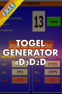 Togel GENERATOR 4D3D2D - náhled