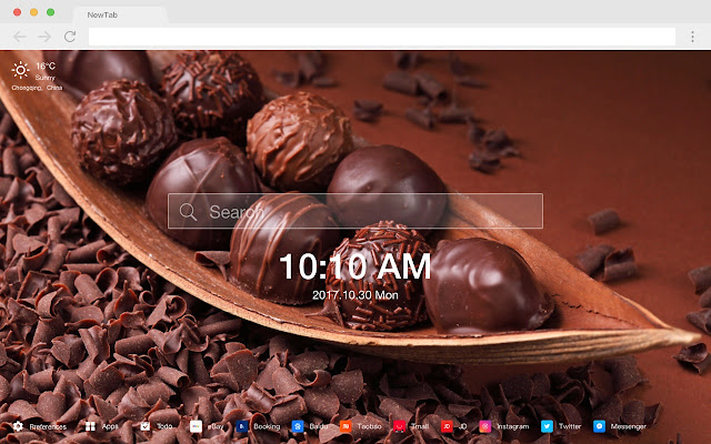 Chocolate New Tab Page HD Wallpapers Themes