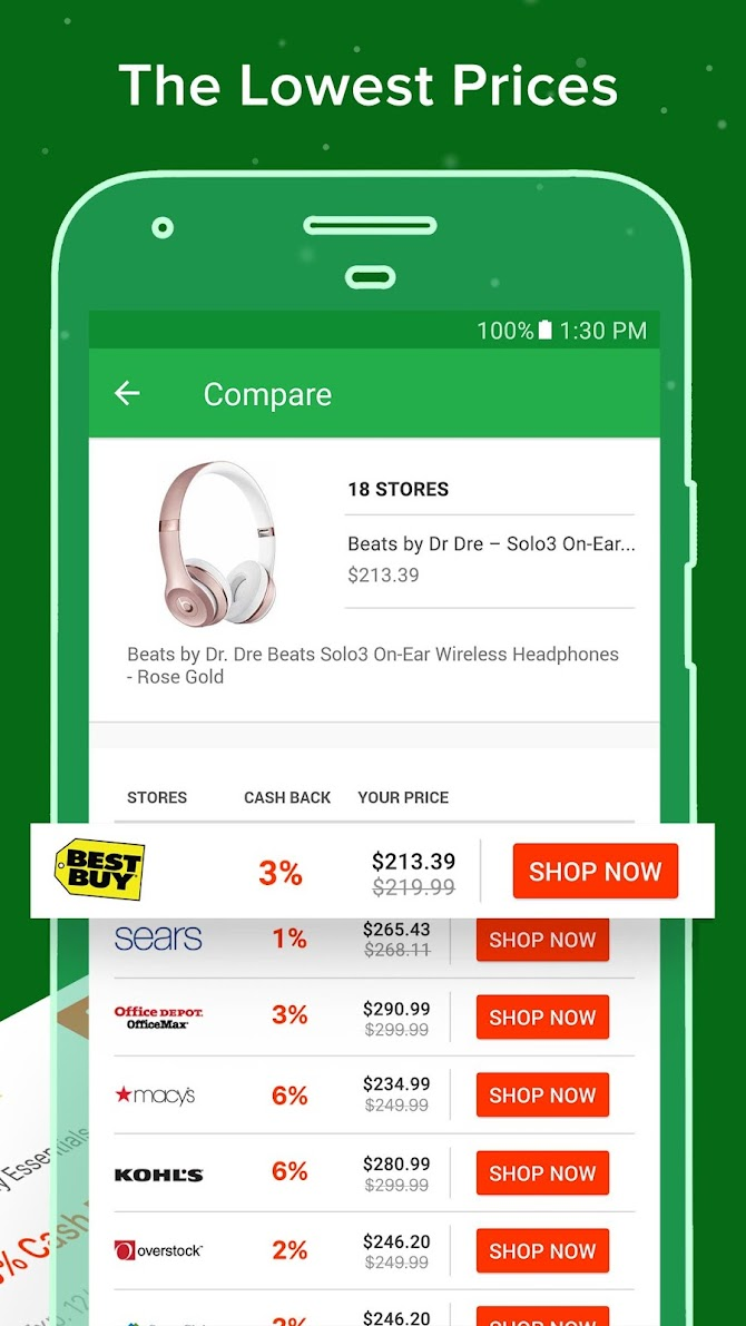 Ebates: Cash Back Rewards, Coupons & Promo Codes Android 3