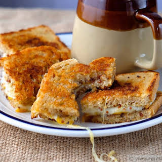 Grilled Cheese with Cheddar, Havarti and Apple Fig Chutney.