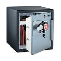 Sentry Safe OA3807: Electronic Safe, 1.2 Ft3, 16-11/32w x 19-5/16d x 17-27/32h, Black / gunmetal Gray