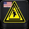 American ninja assassin warior icon