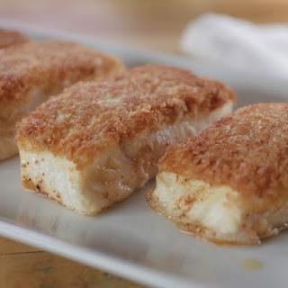 Pan-Seared Crispy Halibut with Homemade Tartar Sauce.