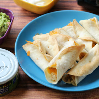Cheesy Tuna Air Fryer Flautas.