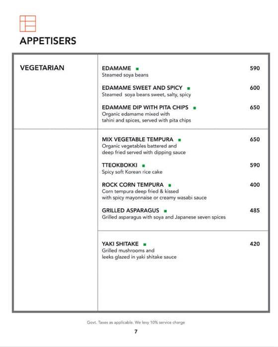 Kofuku menu 1