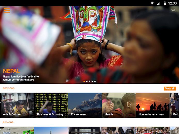 Screenshot 8 for Al Jazeera's Android app'
