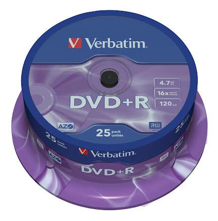 DVD+R Verbatim 16x 25/fp