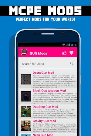 GUN MODS FOR MCPE 1.4.2 screenshot 638875