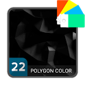 Polygon Black Xperia™ Theme icon