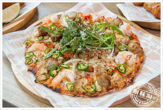堤諾披薩菜單海陸雙辣披薩