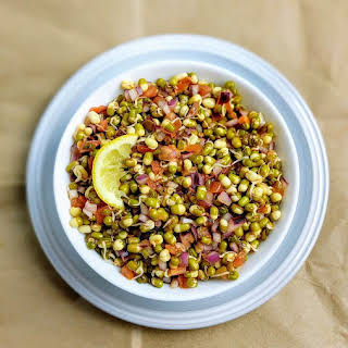 Sprouted Moong Dal Salad.