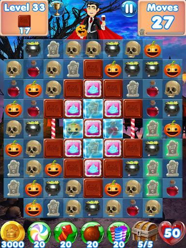 Halloween Games 2 - fun puzzle games match 3 games screenshots 9