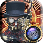 Steampunk Photo Editor Steam Punk Gas Mask & Gears