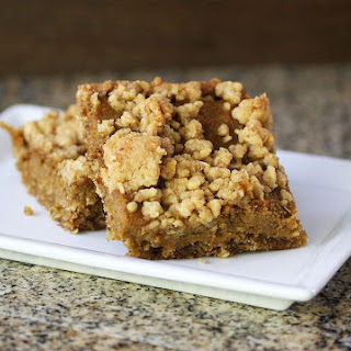 Pumpkin Squares with Oat Crust and Crumb Topping.