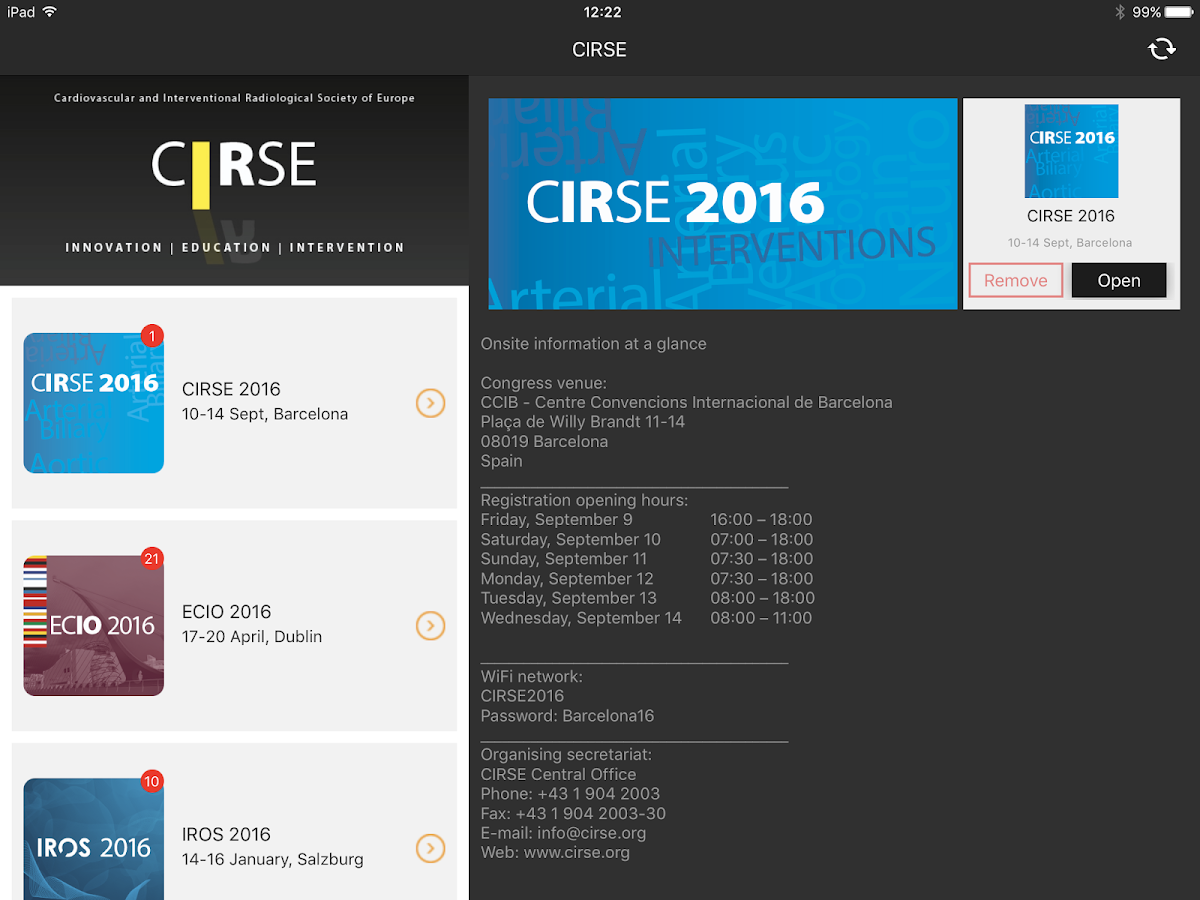 CIRSE- screenshot