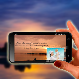 Sunset Quote Photo Frame - náhled