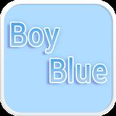 Boy Blue Emoji keyboard Theme
