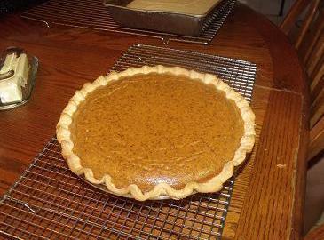 Son in law's dessert Pumpkin Pie, already have recipe posted