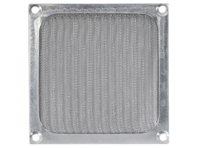 Viftegrill med filter, 120 mm, sølv