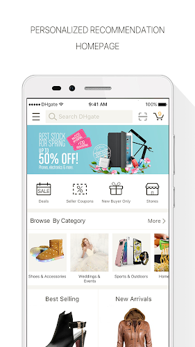 DHgate-Fashion Wholesale Shopping Store by Coupons Android App Screenshot