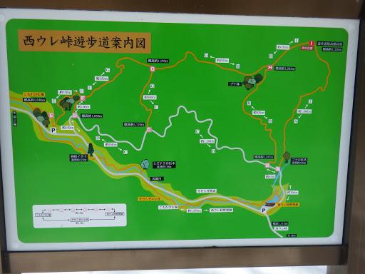 西ウレ峠遊歩道案内図