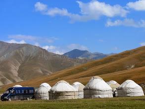 Photo: Kirgíz szállodasor, Kirgíz jurták, jurta, yurt, Kyrgyz, Jurtatábor