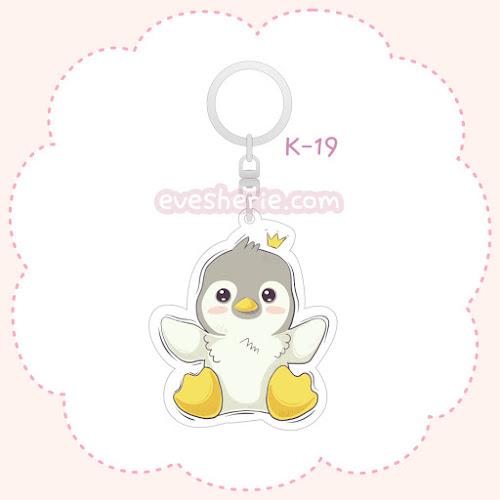 พวงกุญแจอะคริลิค ลายเพนกวิน พวงกุญแจเพนกวิน
