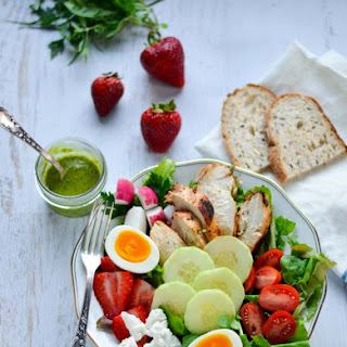 Fines Herbes Chicken Salad with Strawberries