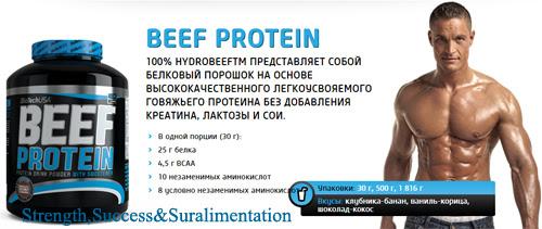 Картинки по запросу BEEF Protein (Говяжий) BioTech USA 1816г