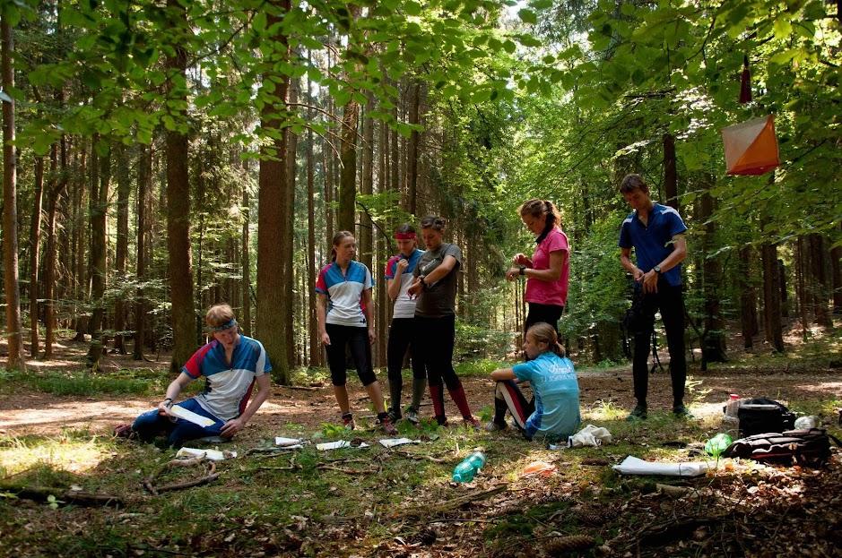 tréninková pohoda uprostřed lesa