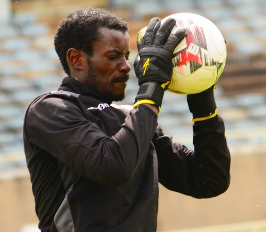 Robert Mboya in action during a Harambee Stars training session at Moi Stadium, Kasarani