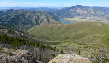 Photo: Mann Gulch with Missouri River  and Sleeping Giant in background