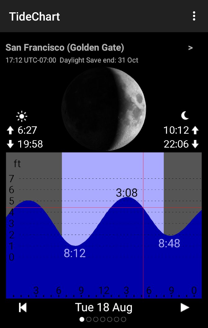 Tide Table Chart Android 1