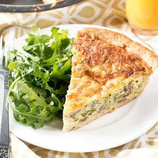 Bacon, Roasted Broccolini & Gruyere Quiche