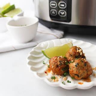 Slow Cooker Thai Meatballs.