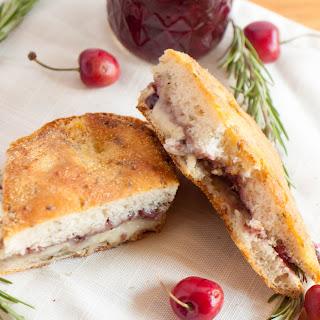 Cherry Jam and Brie Cheese Melt on Rosemary Ciabatta.