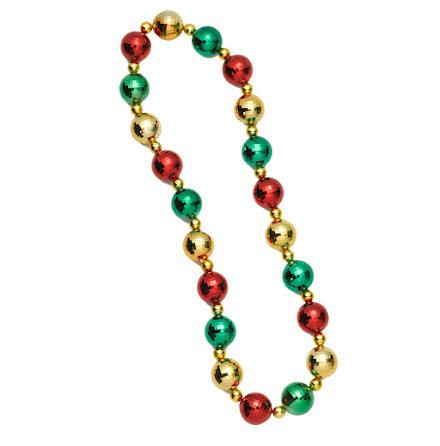 Halsband, julkulor jumbo guld