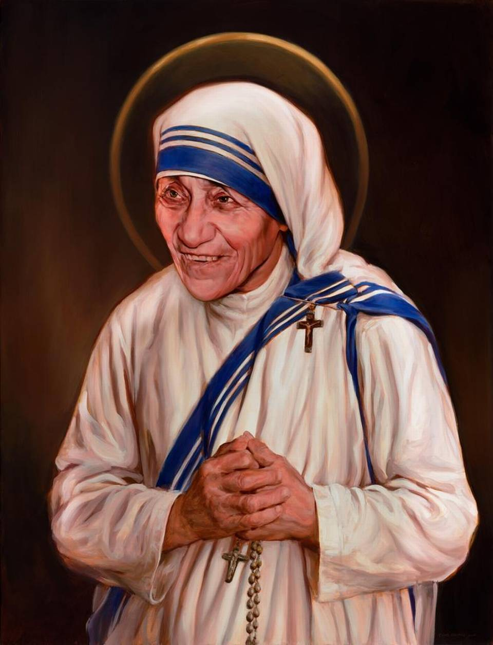 The image of Mother Teresa completed in four months by Charlotte artist Chas Fagan was unveiled Thursday in Washington D.C.