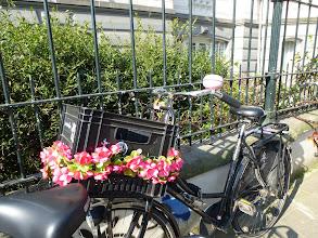 Photo: Decoratiing bikes is common