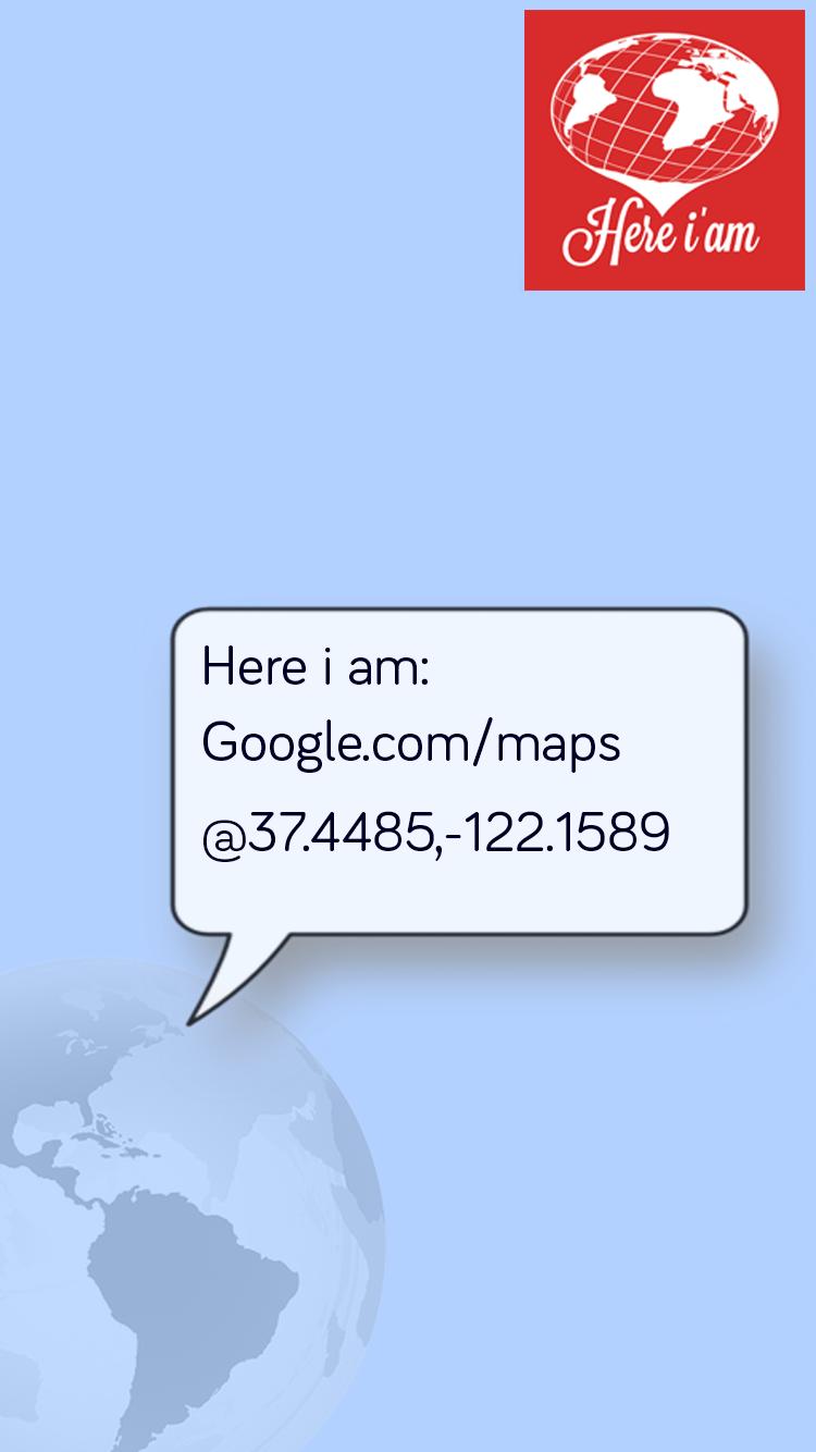 Скриншот Here i am SMS Location Sharing