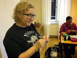 Photo: Lisa Bomble hade bland annat sin populära workshop i sin Dubbelstickning.