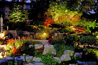 Photo: Imagine YOUR yard looking this beautiful, even in the night.