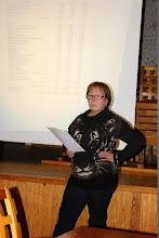 Photo: Taloudenhoitaja Riitta Hyttinen esitteli talousarvion vuodelle 2014.