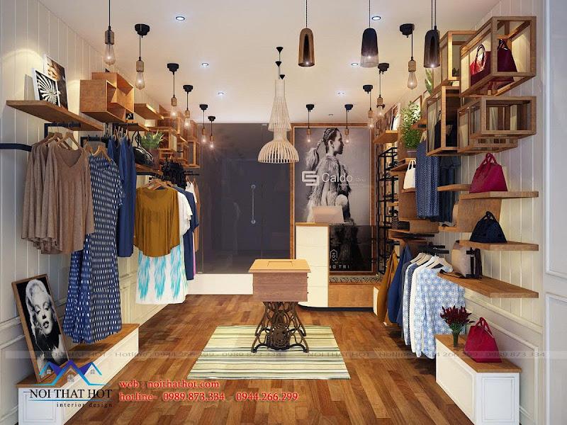 thiết kế shop thời trang nữ theo kiểu vintage cổ điển