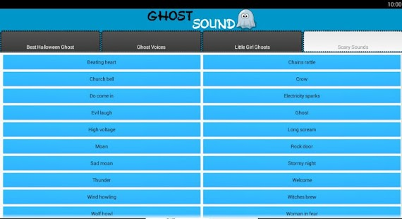 Ghost and Scary Soundboard screenshot 3