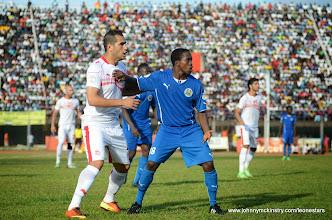 Photo: George 'Kweku' Davies makes his international debut against Tunisia, June 2013 (Pic: Darren McKinstry)