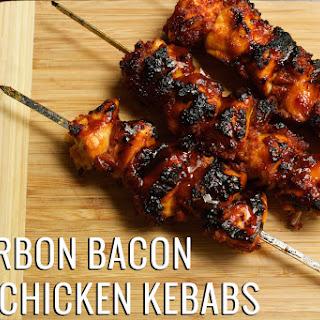 Bourbon Bacon BBQ Chicken Kebabs.