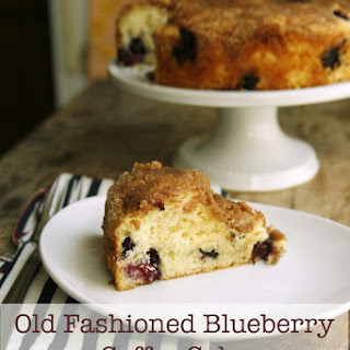 Old Fashioned Blueberry Coffee Cake