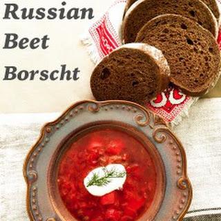 Classic Russian Beet Borscht