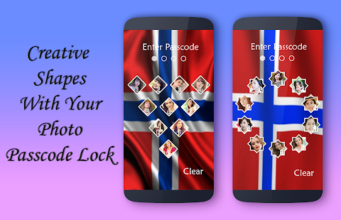 Norway Flag Lock Screen - náhled